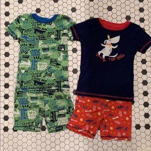 Gymboree Cotton Gymmie Pajamas Shorts Boys 7 dogs